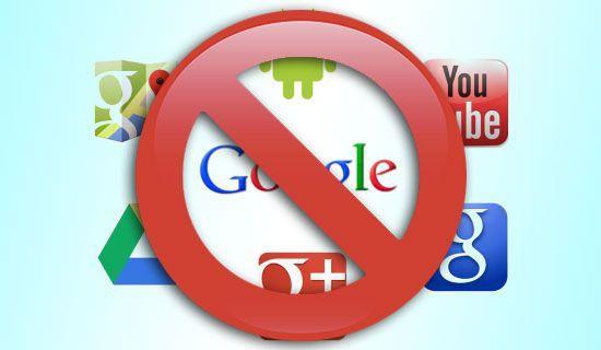 delete gmail services