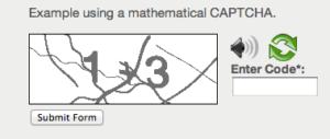 mathematics captcha